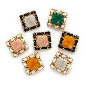 5pcs Retro Weave Square Metal Buttons for Clothing Repair Sewing Handmade Decor