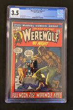 CGC 3.5 Werewolf By Night #1 KEY 9/72 Premiere issue continued Marvel Spotlight