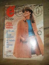 Echo de la mode N° 40 1967  Patron Mode vintage Couture Robe Tricot Enfant 60'