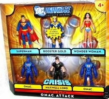 DC Universe Omac Attack 6 FIGURE SET - Superman, Wonder Woman, Booster Gold ++