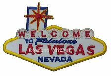 WELCOME to LAS VEGAS Patch iron-on embroidered Road Sign Highway logo