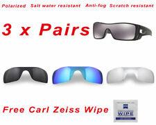 3 x Polarized Replacement Lenses For-Oakley Batwolf 9101 Sunglasses Premium 4KHD