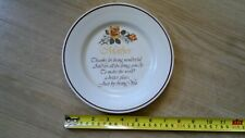 """Decorative plate with """"MOTHER"""" and a verse printed on it"""