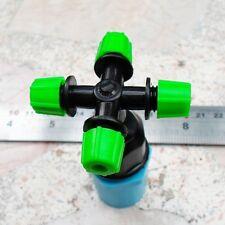 "2 pcsFogger 4 way1/2"" Pipe Misting Nozzle Sprayer Aeroponic 4 bar"