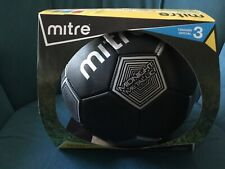 Mitre Midnight Metallic Soccer Ball Official Size 3 Youth Black Silver New
