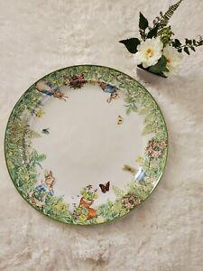 Pottery Barn Peter Rabbit Large Serving Platter 16.5 inch Garden Stoneware