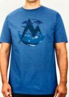 Marmot mens Organic Cotton Mountain T-Shirt Blue 2XL