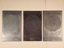 3 Etching Engraved Metal Printing Machine Press Plate Dahlia Scarlet Landscape