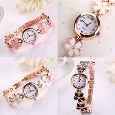 Women's Bracelet Watch Fashion Stainless Steel Clover Quartz Ladies Wrist Gifts