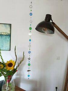RADER Wandkette Glaskette Girlande Wand Deko Glas Metall maritim 175cm