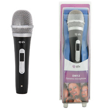 Handheld Dynamic Microphone QTX DM12 On Off Slide Switch Supplied with XLR Lead