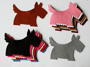FELT SCOTTY DOG DIE CUTS LARGE Toppers Scottie Dog Westie Trimmings Toppers
