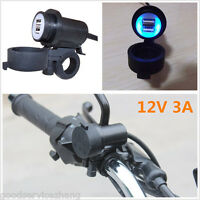 Universal Car Motorcycle Dual USB Socket Charger Power Adapter Outlet Waterproof