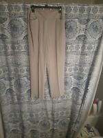 NWT sz 8 Liz Claiborne 100% Silk Pants light beige soft trousers BEAUTIFUL