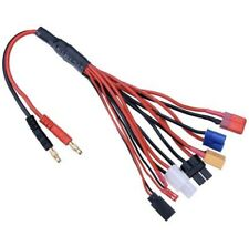 TRAXXAS EC3 JST+ Squid Multi charging cable w/banana plugs for universal charger