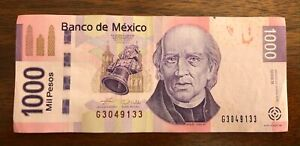 Mexico P-127b 2006 1000 mil pesos series B Crisp Circulated Banknote, Hidalgo