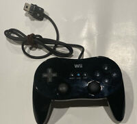 Official Nintendo Wii Black Classic Pro Controller Genuine