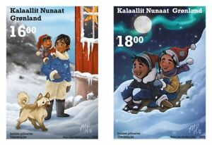 GREENLAND 2020 Christmas stamps 2020 - Mint - Set of 2 stamps