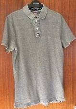 Superdry Mens Classic Polo Shirt Grey Size