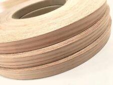 """Birch Maple Red Oak Cherry wood veneer edgebanding pre glued (3/4"""" - 7/8"""")x 250'"""