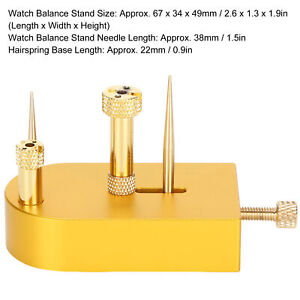 Professional Watch Balances Wheel Holder Stand Tack Watchmaker Repairing Tool
