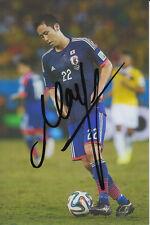 Japón mano firmado Maya Yoshida 6x4 Foto.