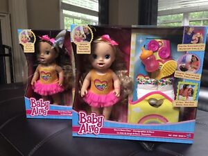 NEW RARE Baby Alive Dance DOLL Long BLONDE DRINKS WETS Eats Lot Interactive Set