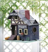 old fashioned village pub bar wood fairy house Bird feeder decorative birdhouse