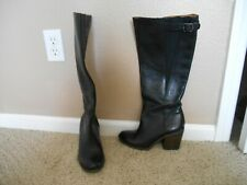 "Lucky Brand Black ""Orman"" Motorcycle Under the Knee Boots, 7.5, Very Cool! New!"