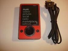 MICROSOFT  ZUNE  CUStOM  RED/BLACK    80GB...NEW  HARD  DRIVE...
