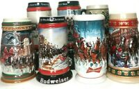 Anheuser-Busch Budweiser Clydesdale Horses Holiday Christmas Mug Collector Lot 7