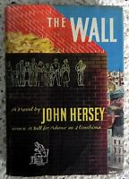 The Wall by John Hersey Signed and Dated 1st Edition 1950 Hiroshima Hardcover