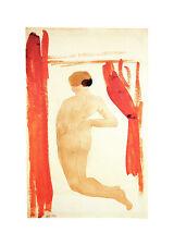 Agosto Rodin femme nue de dos agenouillees et les mains sur les hanches POSTER