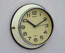 Vintage Beige Maritime Slave Clock Navigation Quartz Seiko Japan Chrome Edge