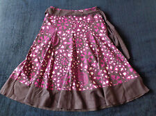 Marks and Spencer M&S Brown Pink summer wedding Skirt UK Size 12 linen Mix
