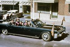 John F. Kennedy's Limo in Dallas motorcade on Nov 22, 1963