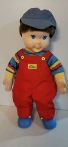 Vtg 1985 MY BUDDY DOLL Hasbro Brown Hair Blue Eyes COMPLETE *Rare* Hat & Shoes