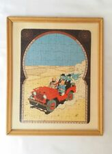 Puzzle encadré Tintin au pays de l'or Noir / 1990 / HERGE / 120 pièces