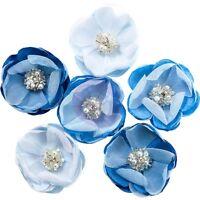 Santorini Fabric Flowers 6/pkg-messaria