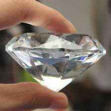 1pc Crystal Paperweight Faceted Cut Glass Giant Diamond Jewelry Decor Advanced