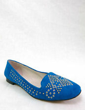 NWB VINCE CAMUTO Lonovan Women's Casual Flats Loafers Studded Suede Teal Blue 9M