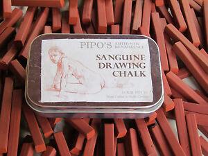 Pipo's Authentic Renaissance Sanguine Drawing Chalk- Conte Crayon