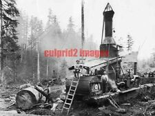 OR WA Pacific Northwest Logging Donkey Engines & Crew REPRODUCTION
