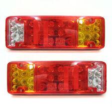 31 LED Trasera Luces Remolque Furgoneta Caravana Indicador Luz de freno 2x 12v