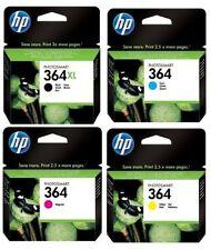 Set of 4 Original Genuine HP 364 Ink Cartridges (CMY) HP 364XL Black Combo Pack