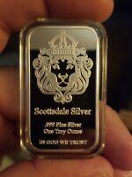 Bullion 1 Oz Bar .999 Fine Silver