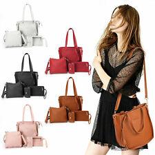 4Pcs/Set Leather Handbags for Women Purse Tassel Messenger Bag Travel Portable