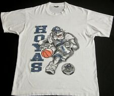 Vtg 80s GEORGETOWN UNIVERSITY HOYAS Basketball Thin 50/50 T Shirt Mens L USA