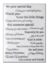 Clear Silicone Stamps for Craft Card making Scrap booking - words phrases