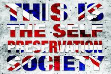 SELF PRESERVATION SOCIETY vinyl car, van decal sticker